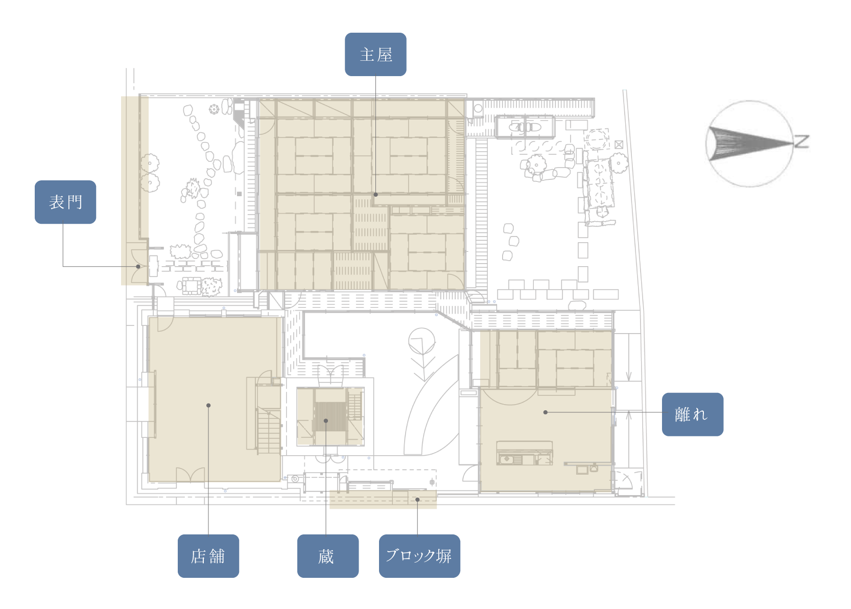 旧三浦住宅間取り図